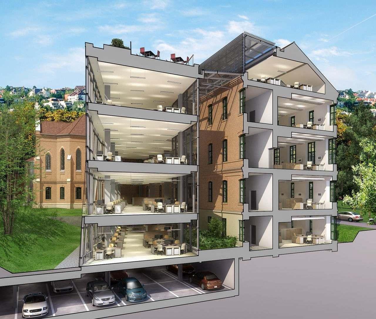 картинка многоэтажного дома в разрезе домов под ключ